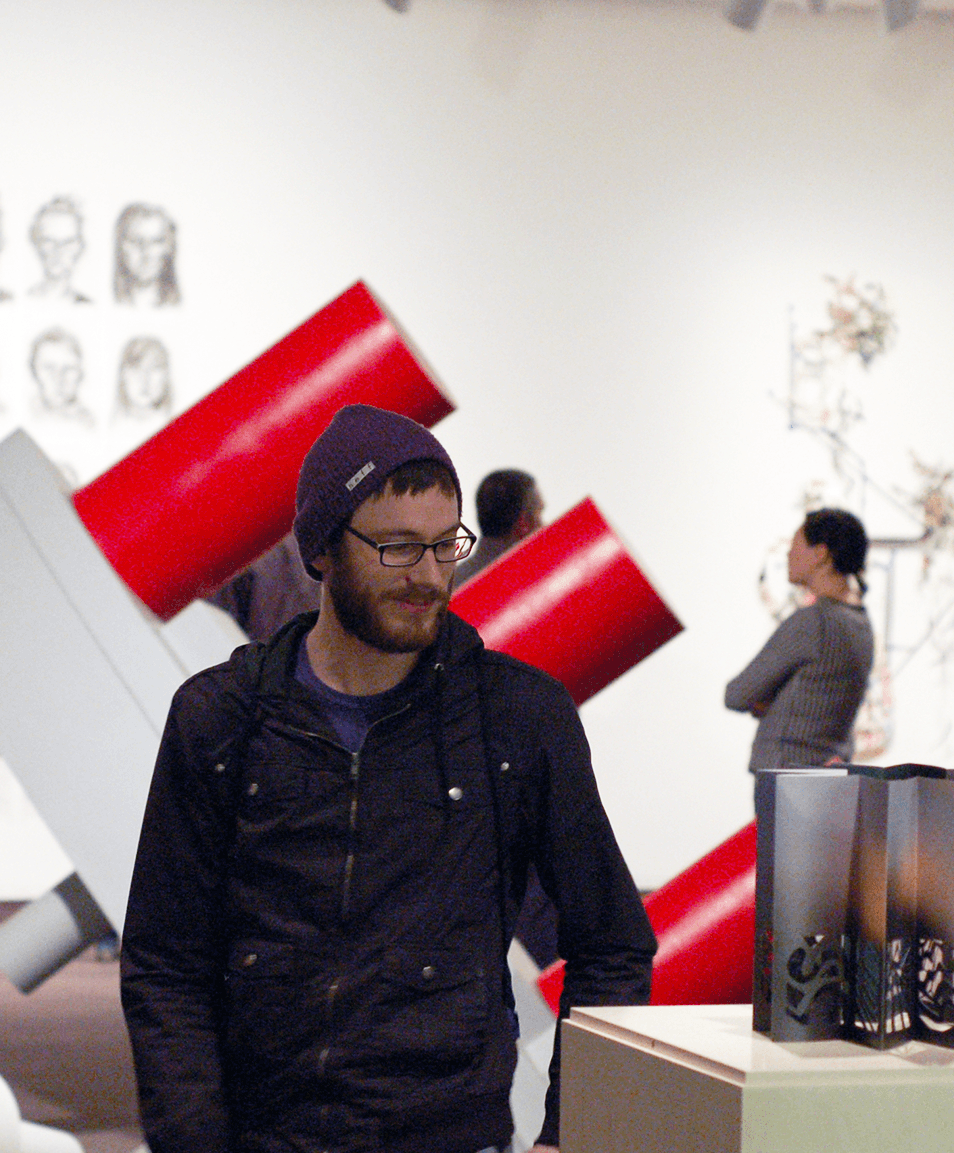 student at gallery of art