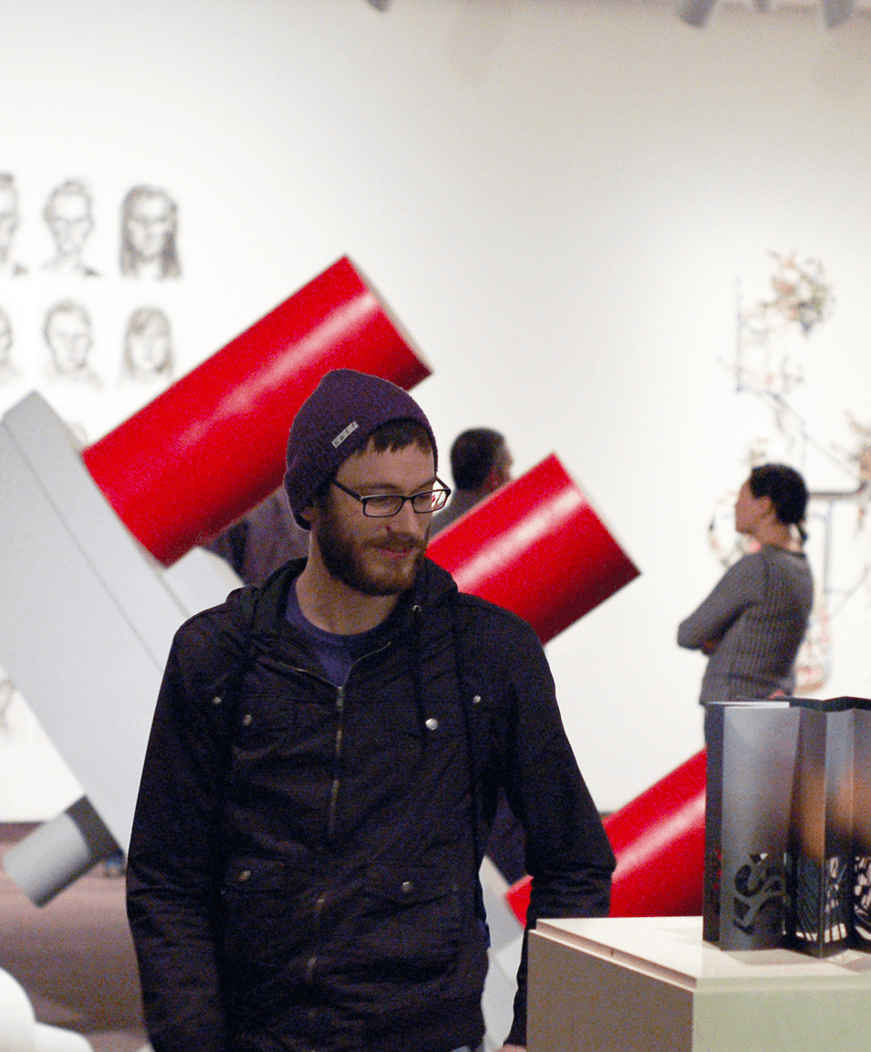 student at the gallery of art