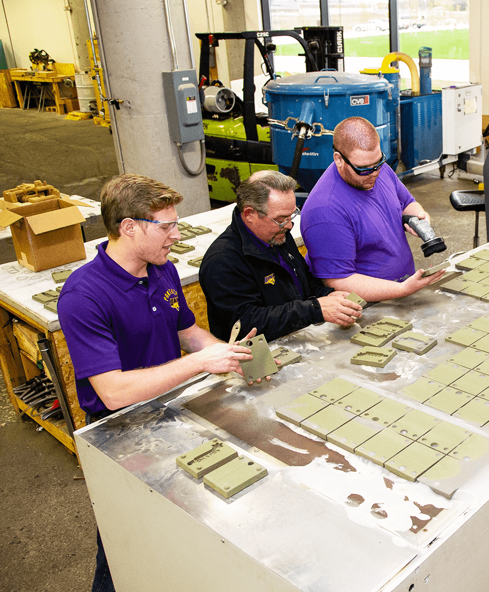 students at the UNI additive manufacturing center