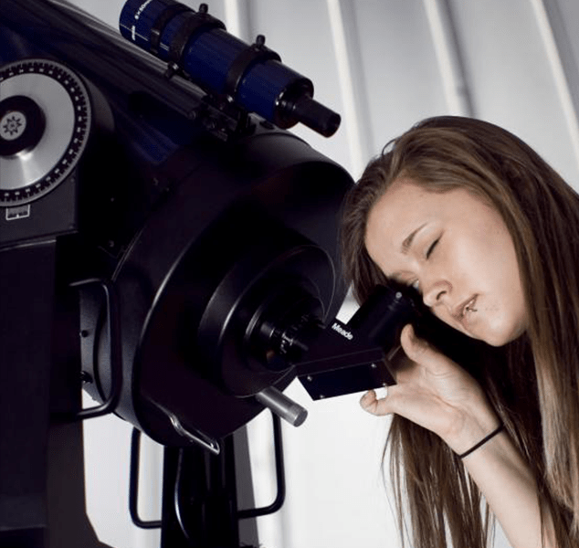 photo of student at observatory