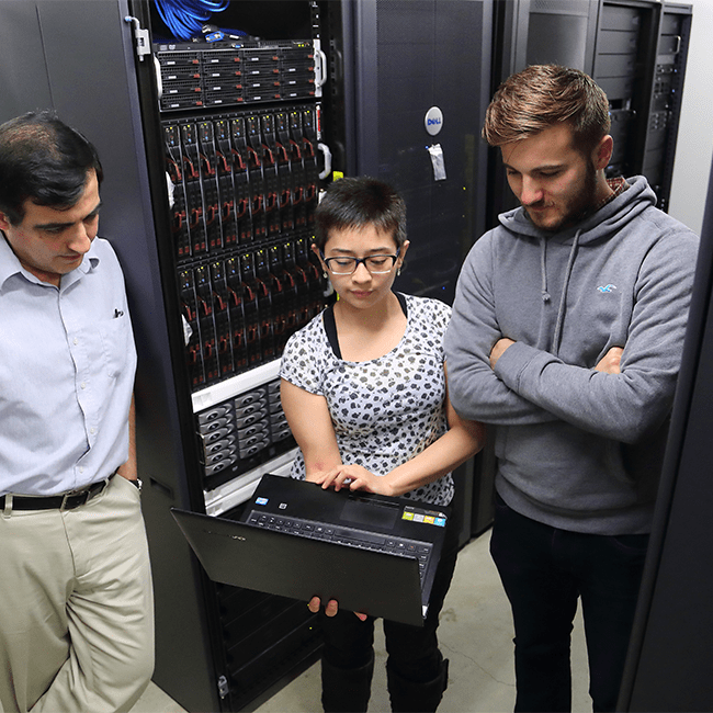 students in server room